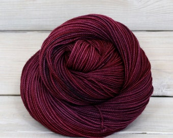 Celeste - Hand Dyed Superwash Merino Fingering Sock Yarn - Colorway: Sugar Plum