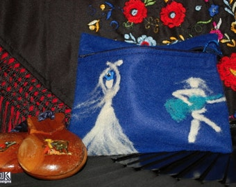 Flamenco gift, Blue Castanets pouch, flamenco dancer, Blue Pencil case, flamenco dance gift, Guitar player gift, flamenco lover gift