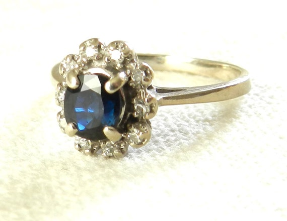 Vintage Sapphire Engagement Ring by LoveAlwaysGalicia on Etsy