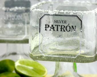 Patron Tequila Bottle Margarita Drinking Glass - Large 750ml