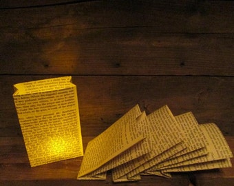1 Mini Book Page Luminary, Book Decor, Paper Lanterns, Book Party, Wedding Decor, Book Wedding, Book Theme, Library Wedding, Library Party