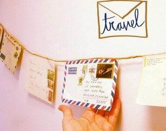 Mail Banner, Letter Writing, Pen Pal, Bon Voyage, Around The World, Travel, Home Decor, Snail Mail, Air Mail, Envelopes, Postal, Par Avion
