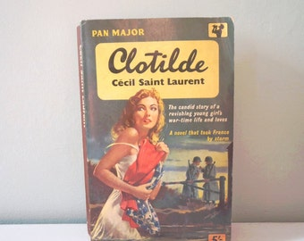 Vintage Pan book Clotilde by Cecil Saint Laurent pan book 60s