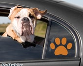 Dog Paw Vinyl Decal fits car window, laptop and so much more, 26 colors and custom sizes available K080