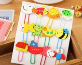 Lovely Animals Paper Clip Set - Wood Paper Clip - Bookmark - Filofax - 16 pcs in