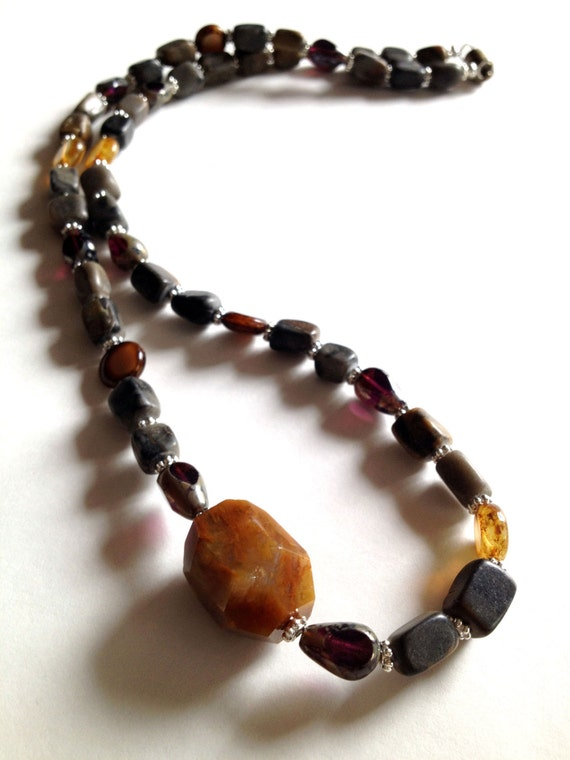 Handmade Beaded Necklace, Agate Necklace, Statement Necklace, Womens, Womens Jewelry, Beaded Jewelry, Agate Jewelry