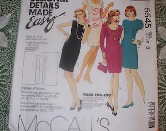 Vintage McCall's Pattern - 5545 - Palmer Pletsch Designer Pattern - Size 8 - UnCut Complete