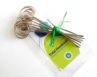 10 Custom Cut Wire Memo Clips For DIY Table Number Holders Custom Cut-to-Length - Stands - Holders - Wires -