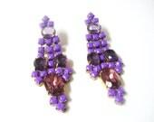 Y E L I N A Purple Earrings