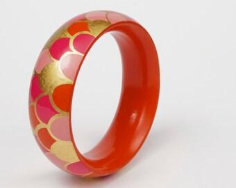 Bracelet Scales - Orange, Pink, Gold -