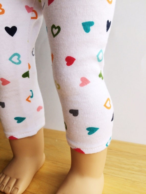 "American Girl 18"" Doll Clothes Hearts Stretch Leggings"