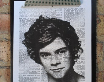 Harry Styles One Direction Dictionary Print