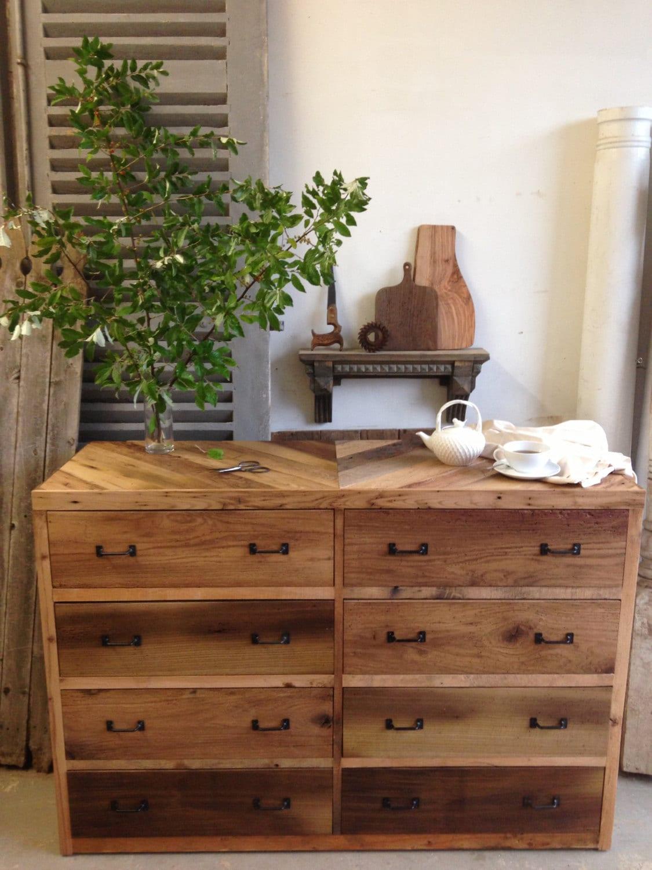 8 drawer barn wood dresser chestnut oak pine pallet rustic. Black Bedroom Furniture Sets. Home Design Ideas