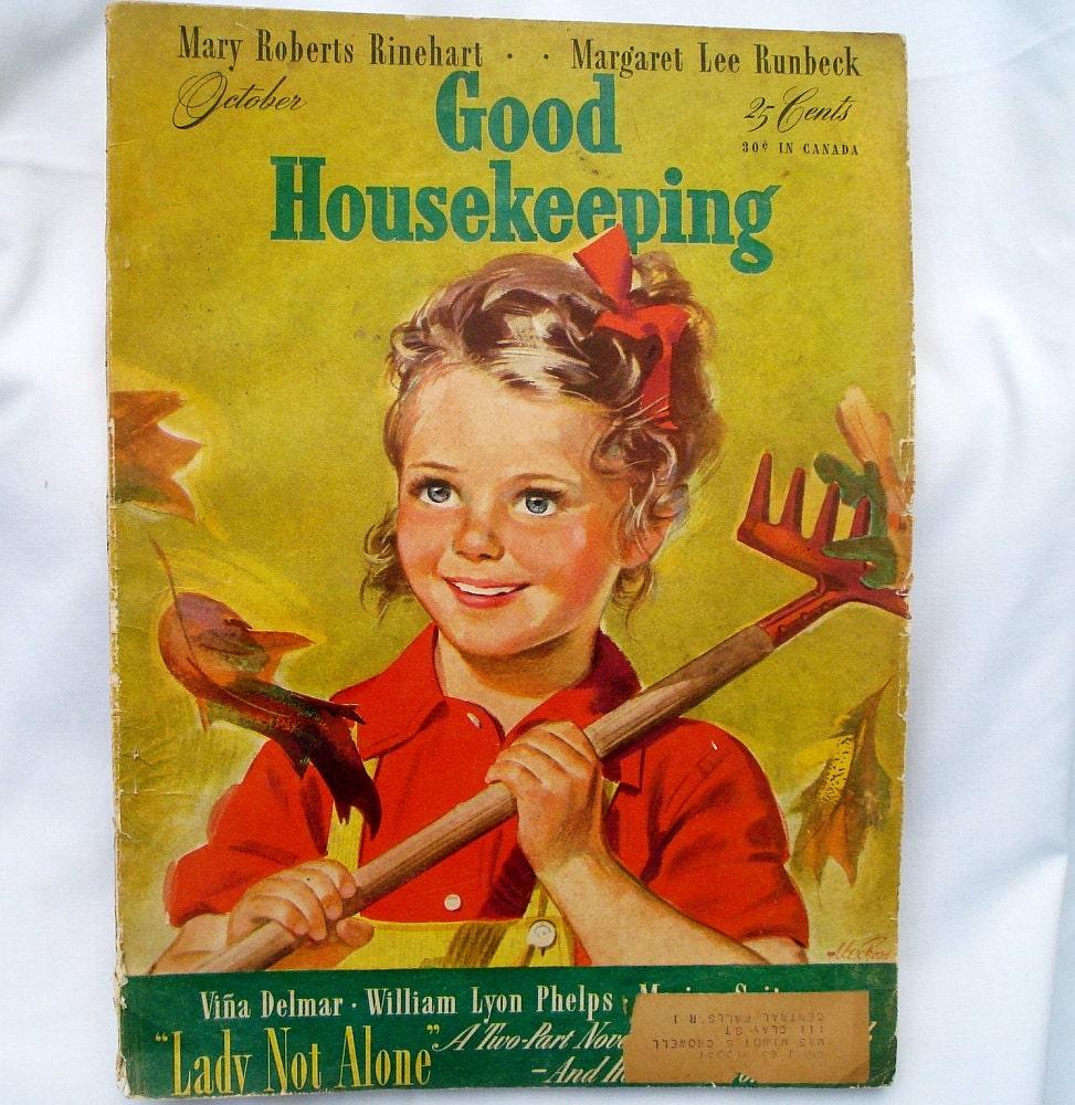 Good Housekeeping: Vintage Good Housekeeping Magazine October 1942