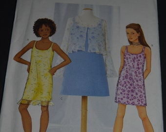 Butterick 6960  Girls Jacket and Dress Sewing Pattern - UNCUT- Sizes 7 8 10