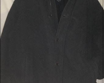 FINAL REDUCTION*** Vtg Abercrombie and Fitch wool grey winter jacket with padded lining size large rare