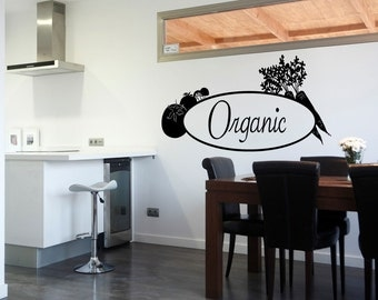 Organic Wall Quote Decal Vinyl Sticker Pantry Decal Kitchen Art Wallpaper (515)