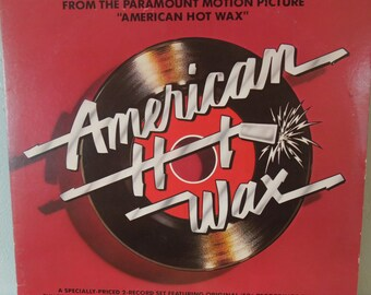 Vintage Vinyl Oldies Record - American Hot Wax - Double LP OST - 1978