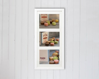 French macaron photography, patisserie food Photography, kitchen art set of 3, mother gift, country kitchen,  gifts for her gifts for him