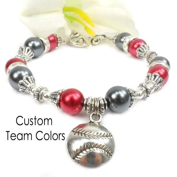 Custom Pearl Baseball Bracelets: Personalized Baseball Team