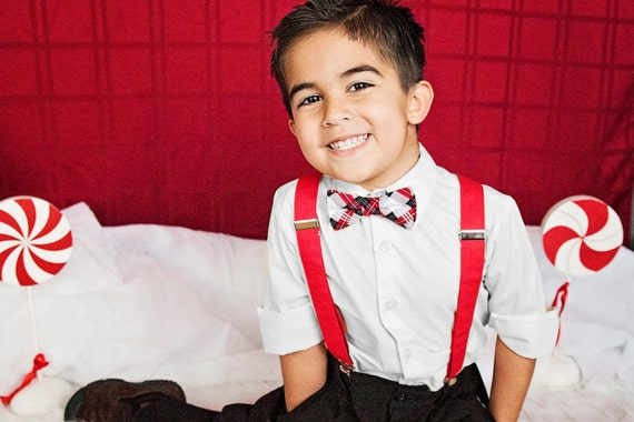 Items Similar To Boys Christmas Outfit Kids Bow Tie And