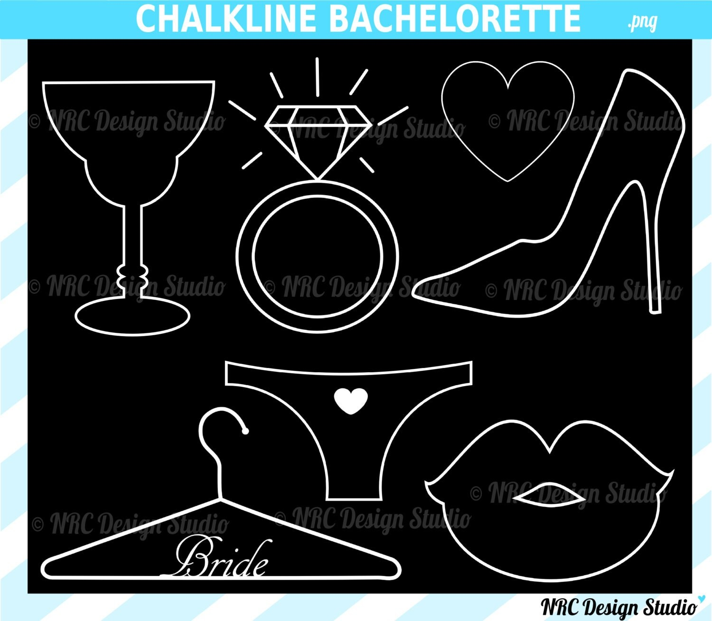 SUMMER SALE Wedding Clip Art Chalk Line by NRCDesignStudio