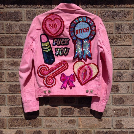 Items Similar To Feminist Vagina Hand Embroidered Sequin