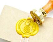 B20 Wax Seal Stamp Tropical Fruit Pineapple