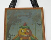 Happy Halloween Pumpkin Postcard Wall Hanging