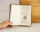 Rare Historical Book 1784 - Institutiones Theologicae - Auctoritate D. D. Archiepiscopi Lugdunensis - Tomus Quintus