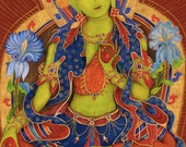 Green Tara, Goddess of Compassion, A , Avalokitesvara, Dharma, Meditation, Tara, Hindu Buddhist deity, incense