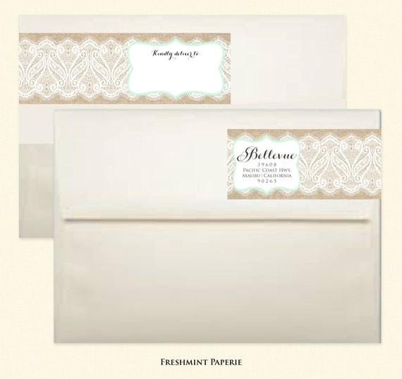 Items Similar To Calligraphy Return Address Labels Wrap
