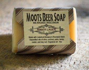 Amber Lager Beer Soap - Beer Soap - Bay Rum - Men's Soap