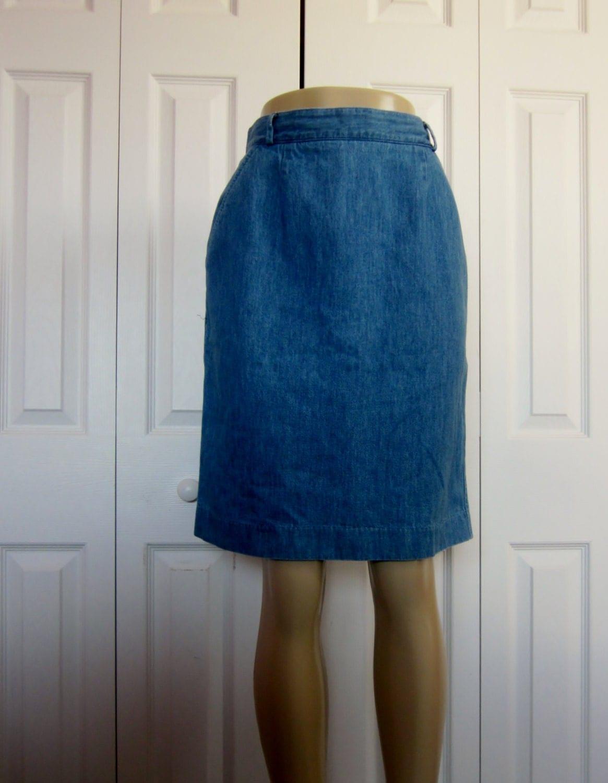 vintage denim skirt 90s grunge talbots jean by groovygirlgarb