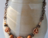African Kazuri Ceramic Necklace Set with giraffe patterned beaded jungle print - Beechtree