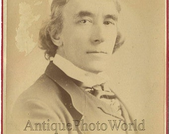 Henry Irving English stage theater actor antique cabinet photo