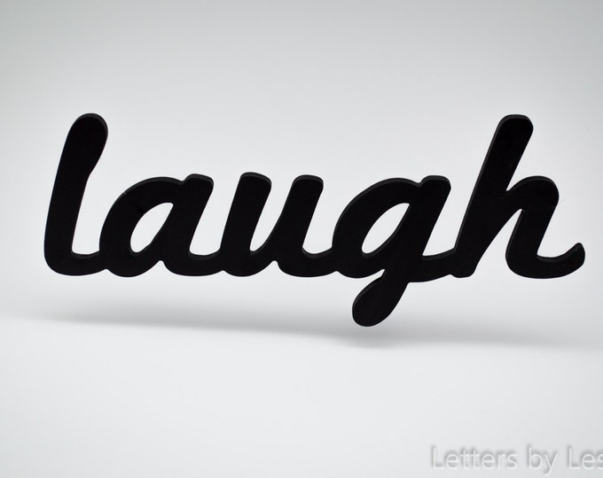 Laugh Wooden Wall Sign, Laugh Wall Decor.  Laugh Wall Letters