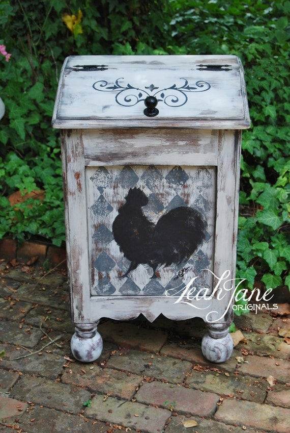 Hand Painted Rustic Farmhouse French Country Rooster Wood