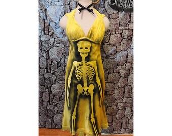 Zombie costume // Skeleton dress // Dead Prom Queen // Halloween // Dead Marilyn Monroe // Dead Beauty Queen // Movie star // party dress