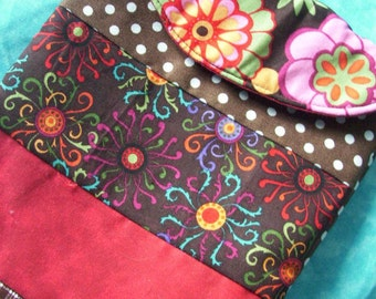 Brown and Red Patchwork E-Reader Sleeve