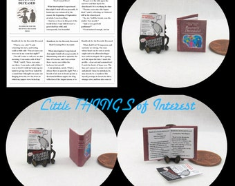 BEETLEJUICE HANDBOOK & Betelgeuse FLYER Readable Miniature Dollhouse 1:12 Scale Book