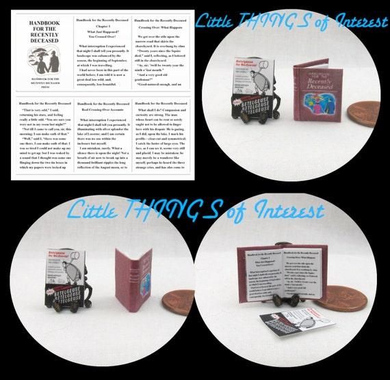 BEETLEJUICE HANDBOOK & Betelgeuse FLYER Readable Miniature Dollhouse 1:12 Scale Book
