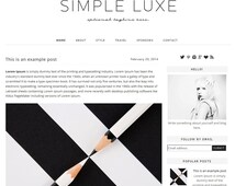 Premade Blogger Template - Instant Download - Simple Lux - Blogger Template - blogger theme - blog design - blogger blog template