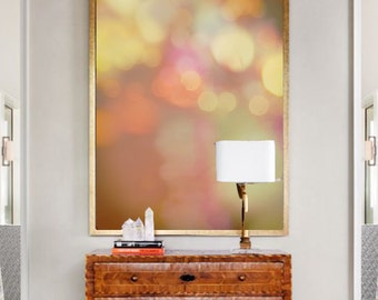"""Abstract Photography - lights bokeh photography brown purple orange large abstract art 24x36 16x24 30x45 large wall decor """"Falling Laughter"""""""
