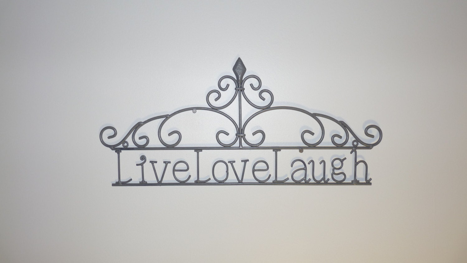 Shabby Chic Live Love Laugh Wall Art Wrought Iron Wall