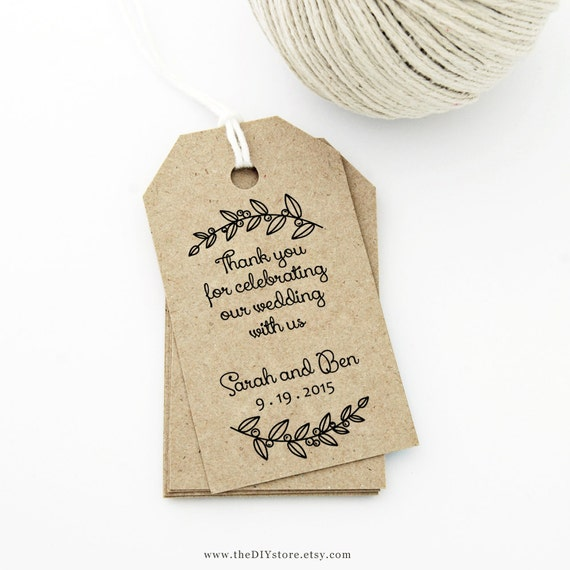 Handy image inside free printable wedding favor tags template