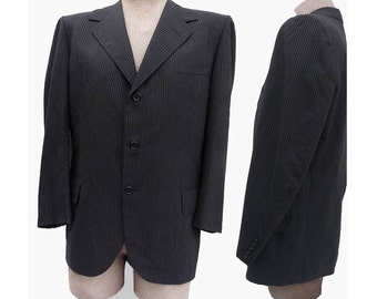 Vintage 1970s Jacket Black Oxxford Clothes 44 Peerage Empire Choice  Bullocks Wilshire
