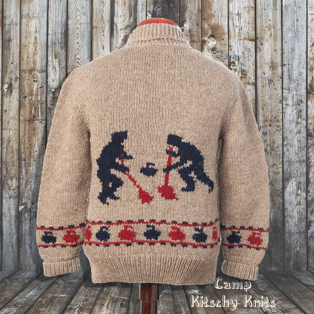 Knitting Patterns For Curling Sweaters : New custom Curling Sweater New hand knit wool by ...
