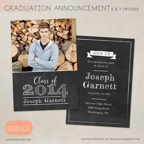 Senior graduation announcement template for photographers for Senior announcement templates free