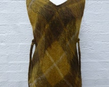 Womens waistcoat 70s clothing womens vintage clothes scottish clothing womans plaid waistcoat vintage mohair clothes 70s ladies vintage gift